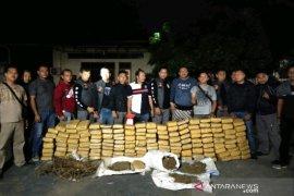 Polres Tapsel amankan 160 kg ganja di Padangsidimpuan
