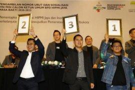 Tiga caketum HIPMI Jaya siap untuk bertanding