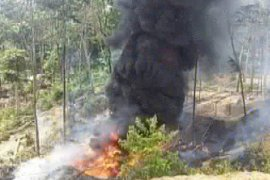 Kepolisian selidiki kebakaran tambang minyak ilegal di Batanghari