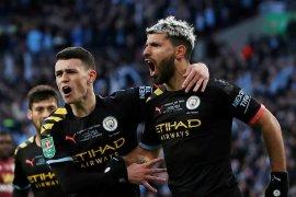 Manchester City juara Piala Liga triruntun usai kalahkan Aston Villa 2-1