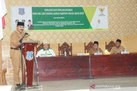 Pemkab Tanjungjabung Barat imbau ASN bayar zakat melalui Baznas