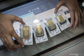 Emas jatuh lagi 5,2 dolar AS, namun berpeluang bangkit  kembali