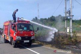 Satu hari tiga lokasi lahan terbakar di Aceh Jaya