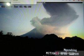 Gunung Merapi kembali erupsi pada Selasa pagi