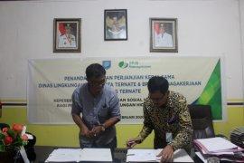 DLH Kota Ternate -  BPJAMSOSTEK jlinan kerja sama tandatangani MoU
