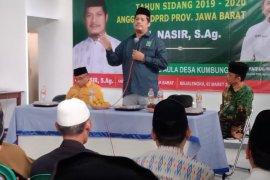 H Nasir, anggota DPRD Jabar sosialisasi pencegahan Covid-19 saat reses