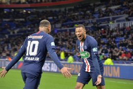 Kylian Mbappe mencetak hattrick bawa PSG final Piala Prancis