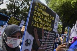 Aksi virtual buruh FSPMI sampaikan tiga tuntutan di medsos