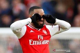 Lacazette: Arsenal menang karena beruntung