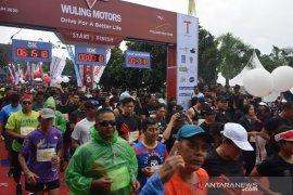 Some 2,800 runners join Volcano Run 2020 in Mt Merapi area, Sleman