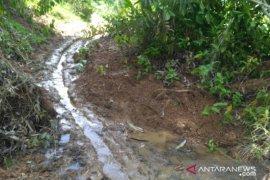 Akses Jalan Dua Kampung Kecamatan Bongan Lumpuh Total