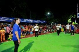 Pertandingan bola voli antardesa digelar di Banyuwangi