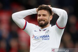 Olivier Giroud akui bahagia di Chelsea meski masa depannya tak pasti