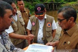 BNPB cek lokasi pembangunan jembatan penghubung antar desa Batanghari