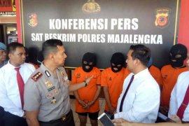 Polres Majalengka tangkap enam pencuri motor dan pembobol toko