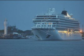 Kapal pesiar Viking Sun tinggalkan Bali
