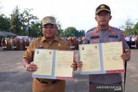 Wali Kota - Kapolres tandatangani kesepakatan penyelenggaraan ketertiban umum