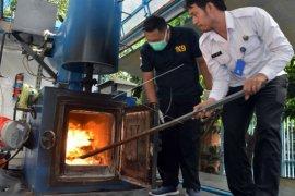 Pemusnahan narkoba di BNNP Bali