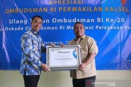 Pemkot Banjarbaru raih penghargaan Ombudsman
