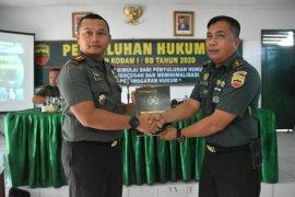 Meminimalisir pelanggaran, prajurit Korem 023/KS  dapat penyuluhan hukum
