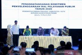 Bupati tandatangani komitmen pelayanan publik bersama Kemen PAN-RB