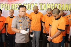 22 pelaku  pengedar sabu dibekuk Polresta Tangerang