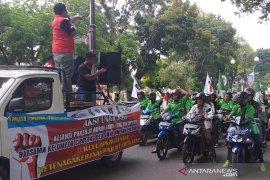 Buruh Jambi bergerak menolak RUU Cipta Karya