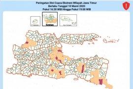 BMKG : Sejumlah wilayah di Jatim hujan lebat sore hari