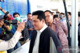 Menteri BUMN Erick Thohir nilai pengguna angkutan umum cukup pakai masker anti debu