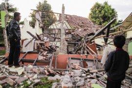 Kerusakan dampak gempa Sukabumi