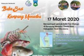 Buka Sasi Laut Kampung Menarbu Wondama masyarakat gelar pesta ikan