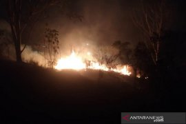 Lahan ilalang terbakar di Lhokseumawe