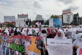 Ratusan Lampung  umat Islam gelar aksi bela Muslim India