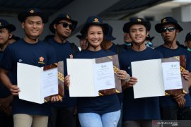 Sebanyak 398 ABK WNI dari AS tiba di Bandara Soekarno-Hatta