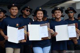 Sebanyak 398 ABK WNI dari empat kapal pesiar tiba di Bandara Soekarno-Hatta