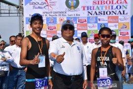 Atlet nasional asal Palembang dan Malang juarai triathlon Sibolga