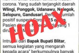 Pemkab Blitar tegaskan info warga positif terinfeksi corona adalah hoaks
