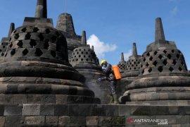 Candi Borobudur disemprot disinfektan Page 1 Small