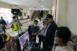 Bandara SIM pasang thermal scanner di terminal kedatangan domestik cegah corona