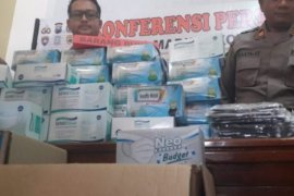 Polres Madiun Kota amankan  ribuan masker