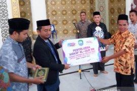 Bupati Abdya terima 5.000 wakaf Al Quran cetakan Madinah