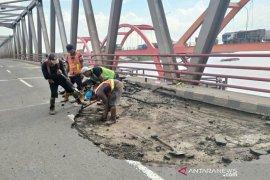 Baut lepas, Jembatan Musi II akan ditutup 2 pekan