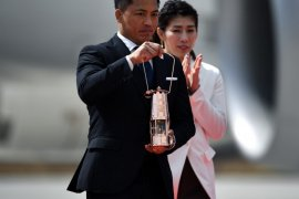 Obor Olimpiade tiba di Jepang dari Yunani disambut tanpa penonton