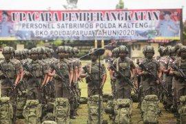 Pelepasan Pasukan Brimob Polda Kalteng Ke Papua