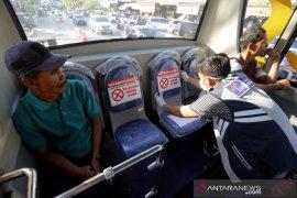 Jarak sosial dalam Bus Trans Kutaraja