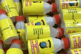 Polda Sumut bagikan cairan hand sanitizer kepada personel