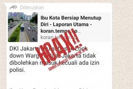 "Polisi sebut hoaks Jakarta ""lockdown"",  warga luar harus izin"