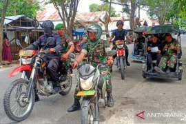 Korem-Brimob sosialisasi waspada penyebaran COVID-19 di Gorontalo