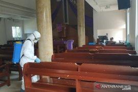 GPIB Immanuel Tanjung Pandan semprotkan disinfektan antisipasi COVID-19