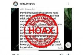 Polda Bengkulu sebut penyemprotan racun korona dari udara hoax